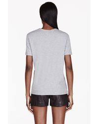 McQ | Gray Heathered Grey Monogram T_shirt | Lyst