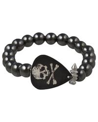Electric Picks | Black Rock Steady Skull Bracelet | Lyst