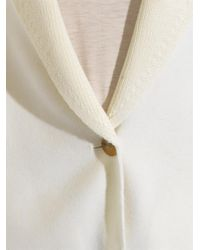Vince - White Contrast-Panel Wool-Blend Cardigan - Lyst