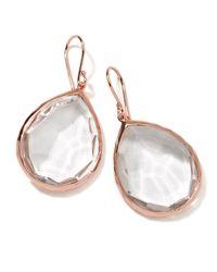 Ippolita | Pink Rose Rock Candy Large Teardrop Quartz Earrings | Lyst