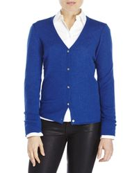 In Cashmere | Blue V-Neck Knit Cardigan | Lyst