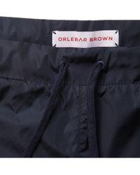 Orlebar Brown Blue Pup Ii Packaway Shortlength Swim Shorts for men