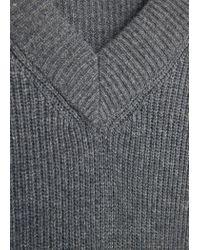 Mango - Gray Alpaca Wool-blend Sweater - Lyst