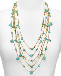 "Ralph Lauren | Metallic Lauren 5-row Triangle & Metal Illusion Necklace, 26"" - Bloomingdale's Exclusive 