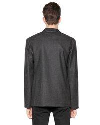April77 Gray Gingham Oversized Wool Jacket for men