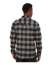 Volcom - Black Echo Long Sleeve Flannel Top for Men - Lyst