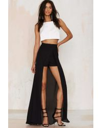 Nasty Gal - Black Analisa Layered Shorts - Lyst