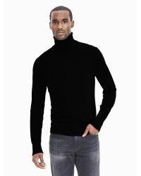 Banana Republic   Black Extra-fine Merino Wool Sweater Turtleneck for Men   Lyst