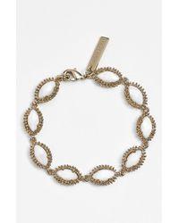 Kendra Scott Metallic 'jana' Line Bracelet - Mother Of Pearl