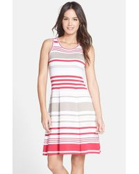 Marc New York | Pink By Andrew Marc Stripe Cotton Fit & Flare Dress | Lyst