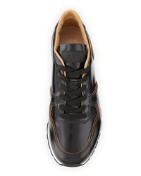 Tod's Black Runner Leather Sneaker