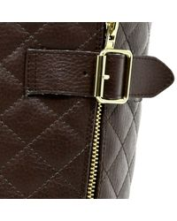 River Island Brown Faux Fur Lined Quilted Boots