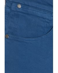 7 For All Mankind Blue Slim Chino Trousers for men