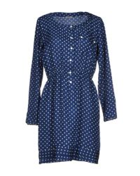 Closed | Blue Short Polka Dress | Lyst