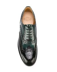 Church's Black Ombre Brogue Shoes