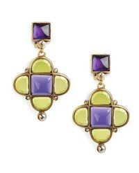Oscar de la Renta | Multicolor Mosaico Earrings | Lyst