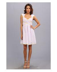 Jessica Simpson Cross Front Full Skirt Dress Self Tie At