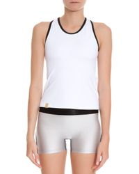 Monreal London White Racer Back Tank Top