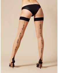 Agent Provocateur | Metallic Lynx Hold Up Champagne/black | Lyst