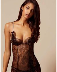 Agent Provocateur | Black Raphaella Lace and Tulle Corset | Lyst