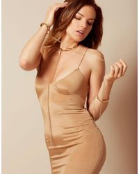 Agent Provocateur - Metallic Crystal Cuffs Gold - Lyst