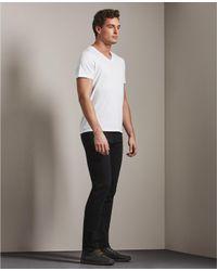 AG Jeans White The Commute Vee for men