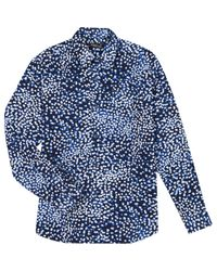 Agnes B. Blue Polka-dot Andy Shirt for men