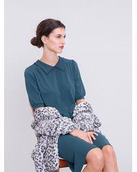 Agnes B. Green Knit Andra Blouse