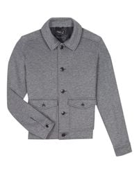Agnes B. Gray Grey Faustin Jacket for men