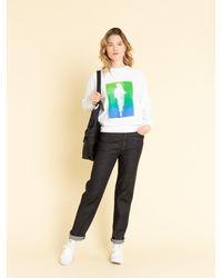 Agnes B. Black Nylon Foldable Bag