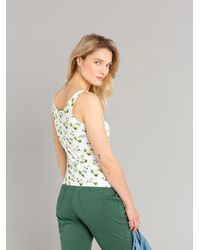 Agnes B. White Nell Tank Top With Lemons Print