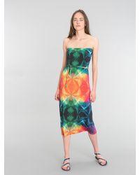 Agnes B. Green Ikon Bustier Dress