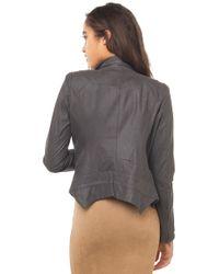 AKIRA - Gray Zip Blazer - Lyst