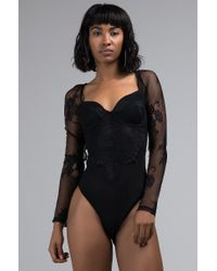Akira Black Capable Of Anything Sexy Lace Bodysuit