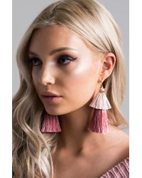 Akira - Multicolor Wait And See Tassel Earring - Lyst