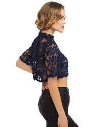 Gracia - Black Forget Me Not Lace Crop - Lyst
