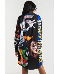 Akira Black That's What's Up Looney Tunes Shirt Dress