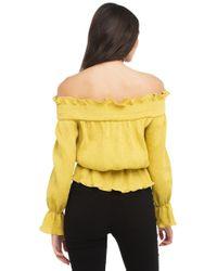 AKIRA - Yellow Lemonade Off The Shoulder Top - Lyst