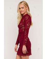 AKIRA | Blue Fall Start Up Longsleeve Dress | Lyst