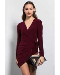 Akira Purple A Royal Affair Knot Mini Dress