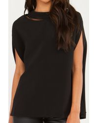 Gracia - Black Vertigo Cape Top - Lyst