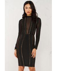 AKIRA - Black Mr. Grey Take Me Out Bandage Dress - Lyst