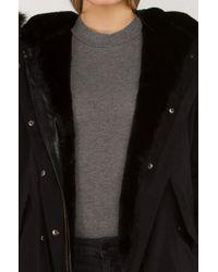 Akira Black Double Trouble Big Furry Coat