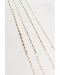 Akira - White Over And Over 4 Choker Set - Lyst