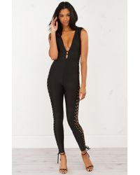 AKIRA | Black Let Me Be The One Lace Up Sides Jumper | Lyst