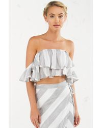 Akira - Multicolor A Lovely Time Off The Shoulder Top - Lyst