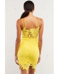 AKIRA - Yellow Harrison Tropics Midi Dress - Lyst