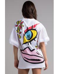 Akira - White Off Your Face Mini Dress - Lyst