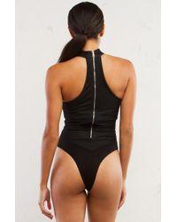Akira Black Pull Me Together Lace Up Bodysuit