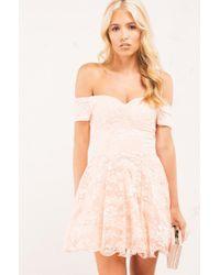 bc557ddb686 Lyst - AKIRA Settling Down Dress in Pink
